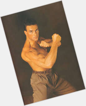 Jean Claude Van Damme light brown hair & hairstyles Bodybuilder body,