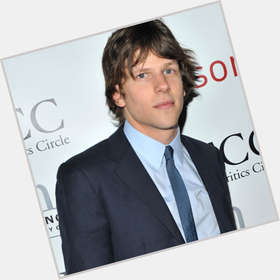 Jesse Eisenberg dark brown hair & hairstyles Athletic body,