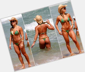 Joana Prado blonde hair & hairstyles Athletic body,