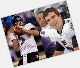 Joe Flacco dark brown hair & hairstyles Athletic body,