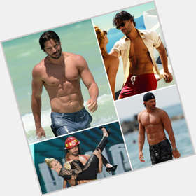 Joe Manganiello dark brown hair & hairstyles Bodybuilder body,