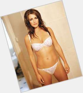Kirsty Gallacher dark brown hair & hairstyles Athletic body,