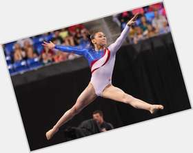 Kyla Ross dark brown hair & hairstyles Athletic body,