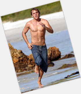 Lincoln Lewis blonde hair & hairstyles Athletic body,