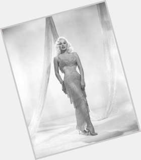 Mamie Van Doren dyed blonde hair & hairstyles Voluptuous body,