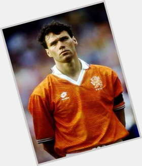 Marco Van Basten light brown hair & hairstyles Athletic body,