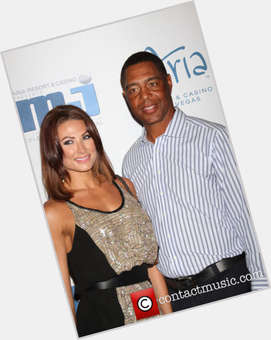 Marcus Allen dark brown hair & hairstyles Athletic body,