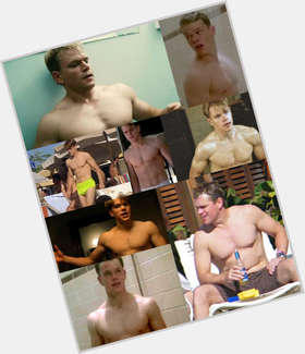 Matt Damon light brown hair & hairstyles Athletic body,