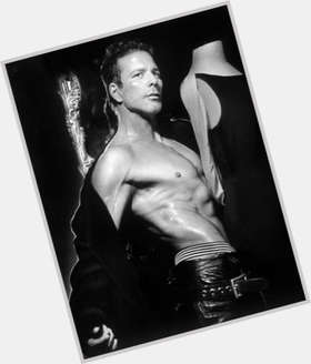 "<a href=""/hot-men/mickey-rourke/is-he-married-directv-commercial-man-fire-counselor"">Mickey Rourke</a> Average body,  dark brown hair & hairstyles"