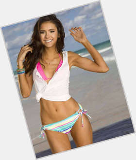 Nina Dobrev dark brown hair & hairstyles Athletic body,