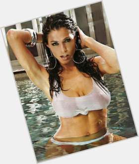 Pamela David dark brown hair & hairstyles Voluptuous body,