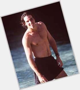 Patrick Rafter dark brown hair & hairstyles Athletic body,