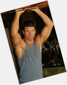 Paul Logan dark brown hair & hairstyles Athletic body,