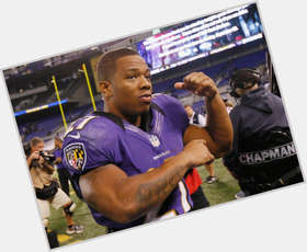 Ray Rice dark brown hair & hairstyles Athletic body,