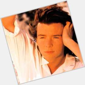 Rick Astley dark brown hair & hairstyles Athletic body,