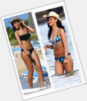 Rihanna black hair & hairstyles Slim body,