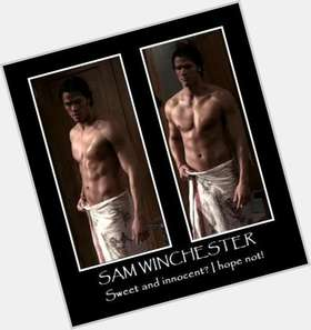 "<a href=""/hot-men/sam-winchester/is-he-dead-vegetarian-married-psychic"">Sam Winchester</a> Athletic body,  dark brown hair & hairstyles"