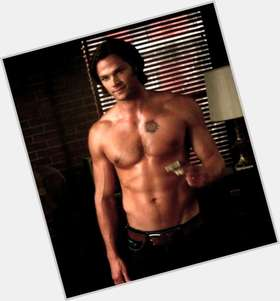 Sam Winchester dark brown hair & hairstyles Athletic body,
