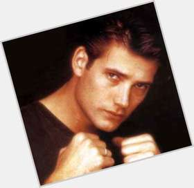 Sasha Mitchell light brown hair & hairstyles Athletic body,