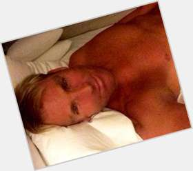 Shane Warne blonde hair & hairstyles Athletic body,
