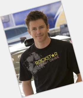 Tanner Foust dark brown hair & hairstyles Athletic body,