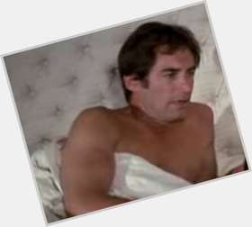 Timothy Dalton dark brown hair & hairstyles Athletic body,