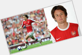 Tomas Rosicky light brown hair & hairstyles Athletic body,