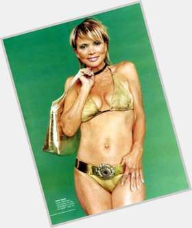 Uschi Glas black hair & hairstyles Athletic body,