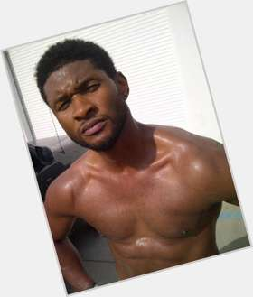 Usher Raymond dark brown hair & hairstyles Athletic body,