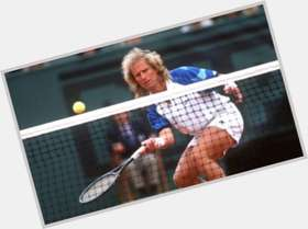 Vitas Gerulaitis blonde hair & hairstyles Athletic body,