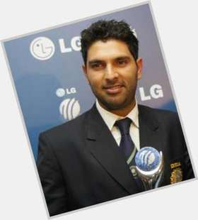 Yuvraj Singh dark brown hair & hairstyles Athletic body,