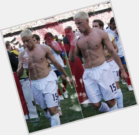 Alan Smith dyed blonde hair & hairstyles Athletic body,