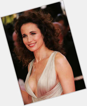 Andie Macdowell black hair & hairstyles Athletic body,