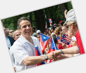 Andrew Cuomo dark brown hair & hairstyles Athletic body,