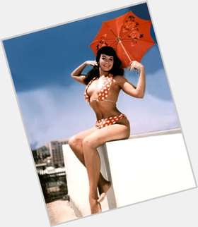 Bettie Page black hair & hairstyles Athletic body,