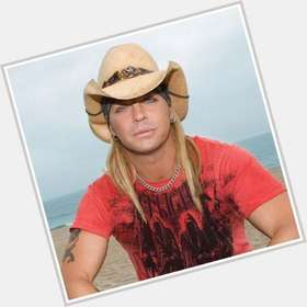 Bret Michaels blonde hair & hairstyles Athletic body,