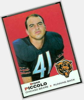Brian Piccolo dark brown hair & hairstyles Athletic body,