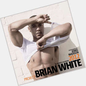 Brian White dark brown hair & hairstyles Athletic body,