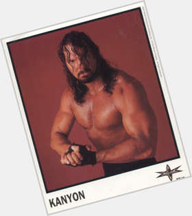 Chris Kanyon dark brown hair & hairstyles Bodybuilder body,