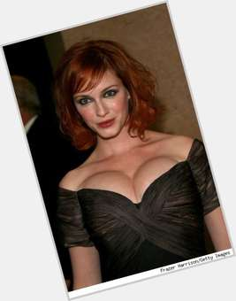 Christina Hendricks dyed red hair & hairstyles Voluptuous body,