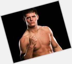 Cody Rhodes dark brown hair & hairstyles Athletic body,