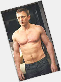 Daniel Craig blonde hair & hairstyles Athletic body,