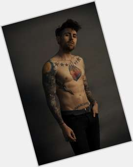 Davey Havok dark brown hair & hairstyles Athletic body,