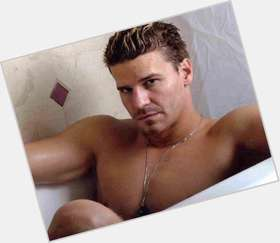 "<a href=""/hot-men/david-boreanaz/is-he-leaving-bones-married-jerk-steelers-fan"">David Boreanaz</a> Athletic body,  dark brown hair & hairstyles"