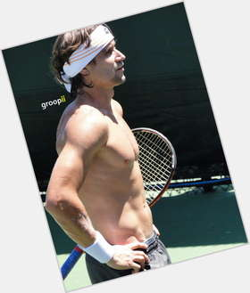 David Ferrer dark brown hair & hairstyles Athletic body,