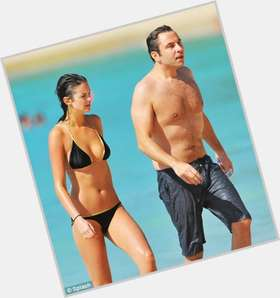David Walliams dark brown hair & hairstyles Athletic body,