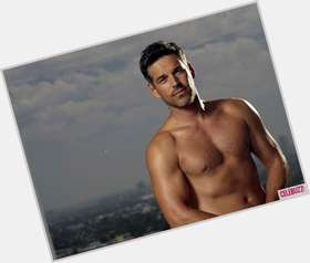 Eddie Cibrian dark brown hair & hairstyles Athletic body,