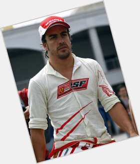 Fernando Alonso dark brown hair & hairstyles Athletic body,
