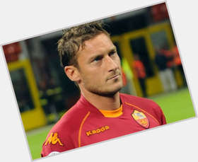 Francesco Totti light brown hair & hairstyles Athletic body,