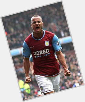 Gabriel Agbonlahor dark brown hair & hairstyles Athletic body,